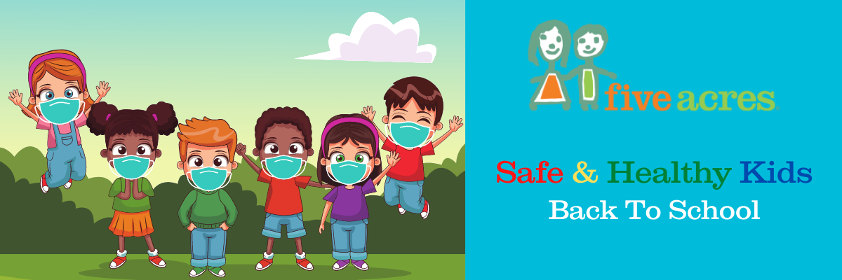 safe and healthy kids wearing masks for back to school